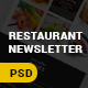 Restaurant/Food E-Newsletter Template