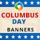 Columbus Day Banners
