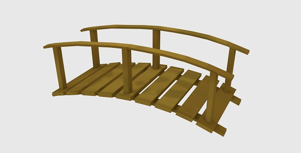 Low poly wooden bridge - 3DOcean Item for Sale