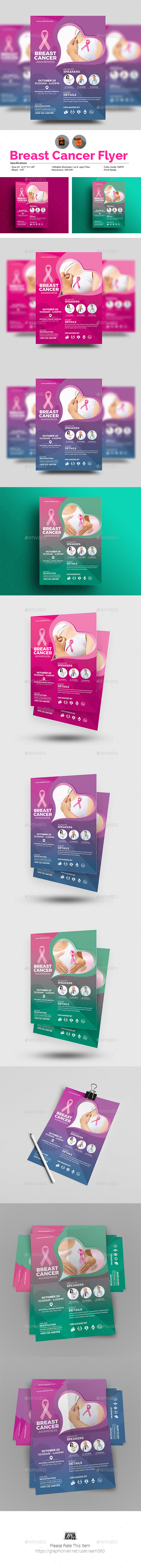 GraphicRiver Breast Cancer Flyer 20759074