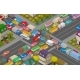 Traffic Jam Isometric Cars and Houses
