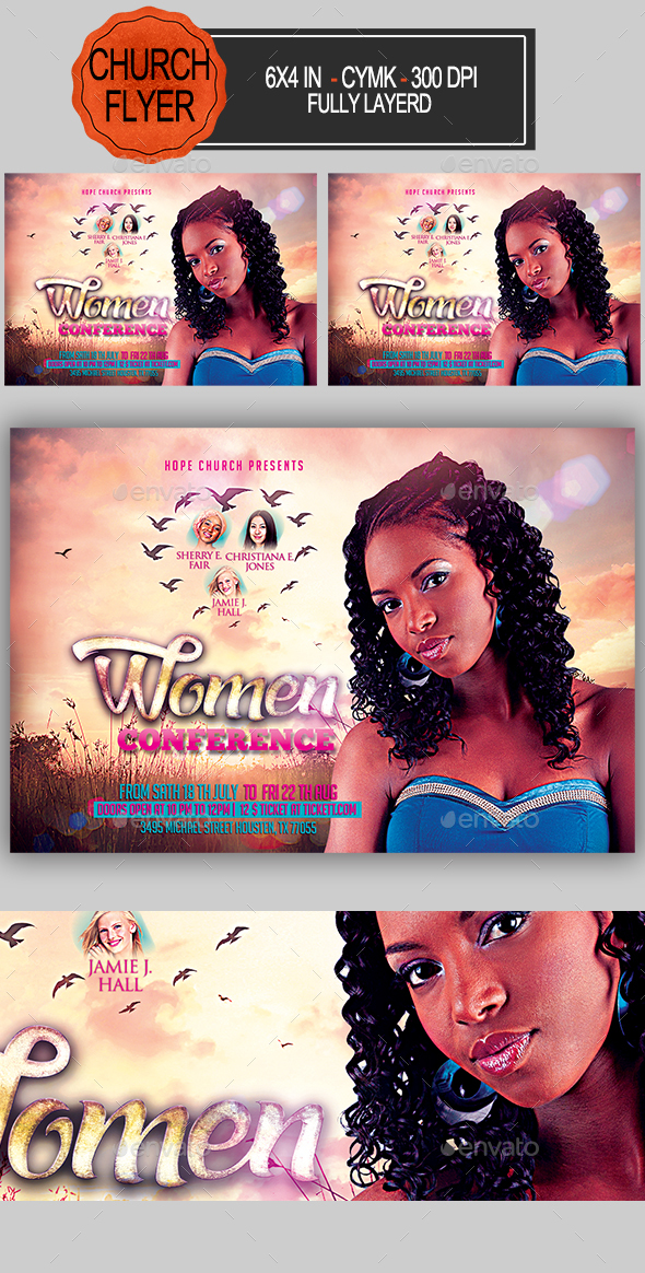 GraphicRiver Women Conference Church Flyer 20759188
