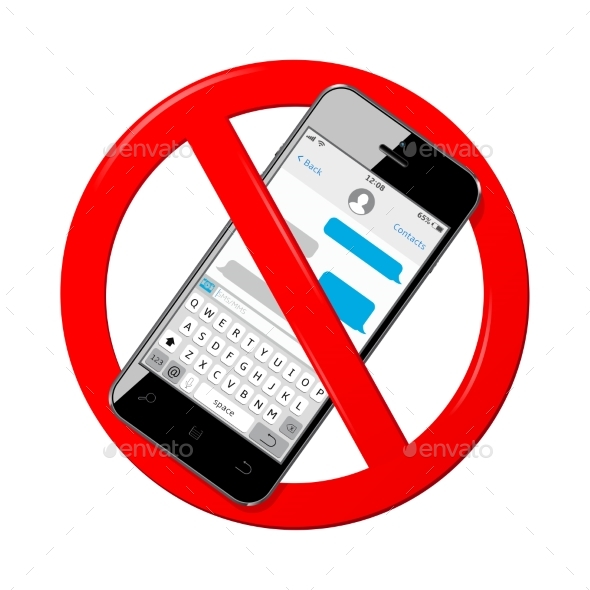 GraphicRiver Do Not Send Messages From Mobile Phone Sign 20759314