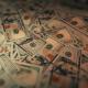Defocused Moving Dollar Background