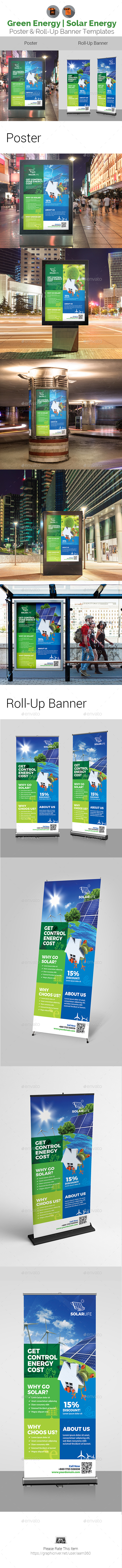 Solar Energy Poster & Roll-Up Banner - Signage Print Templates