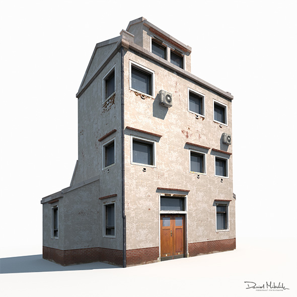 Old Building 186 Low Poly - 3DOcean Item for Sale