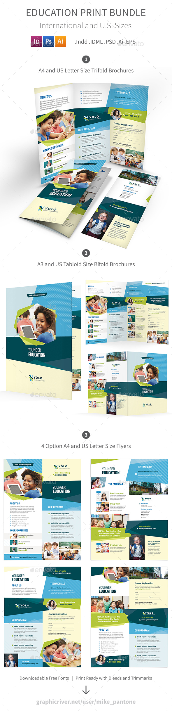 GraphicRiver Education Print Bundle 10 20759800