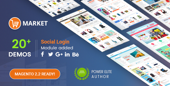 Market - Premium Responsive Magento 2 and 1.9 Store Theme - Shopping Magento