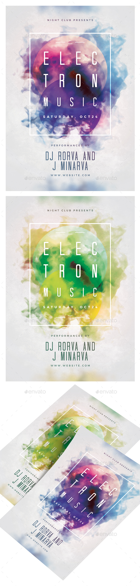 GraphicRiver Electron Music Party Flyer 20760023