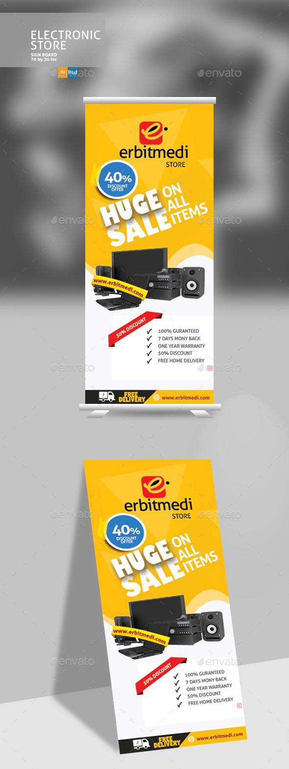 GraphicRiver Electric Store Sign Design 20760038