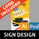 Electric Store Sign Design - GraphicRiver Item for Sale