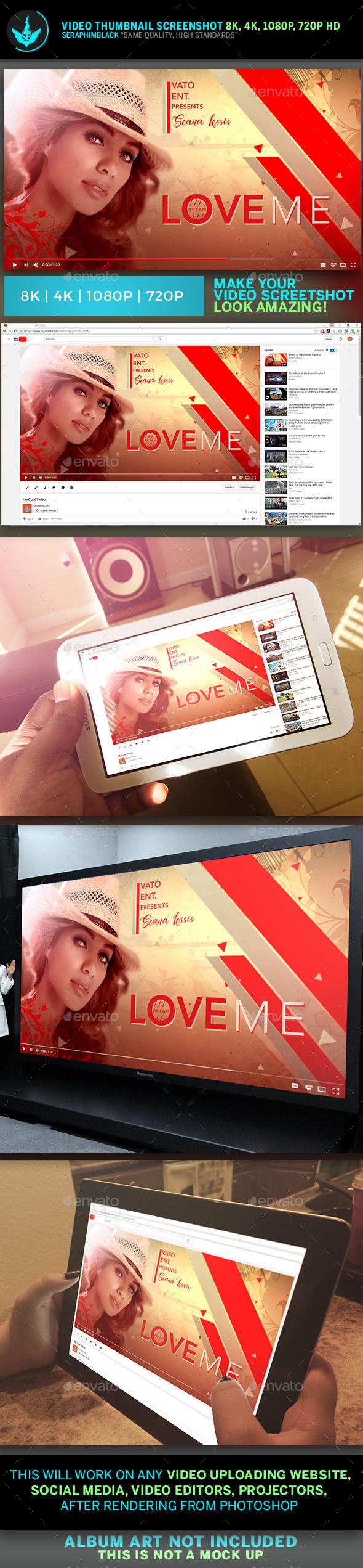 Love Me YouTube Video Artwork Thumbnail Template - YouTube Social Media