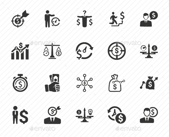 GraphicRiver Budget Plan Icons Gray Version 20760201