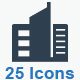 Building and Construction Icons - Blue Version