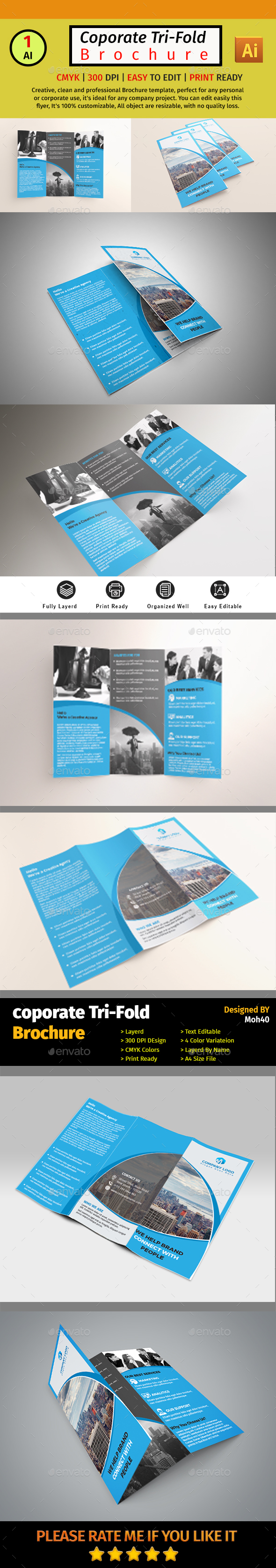 A4 Corporate Business Flyer #017 - Corporate Brochures