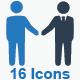 Business Deal Icons - Blue Version