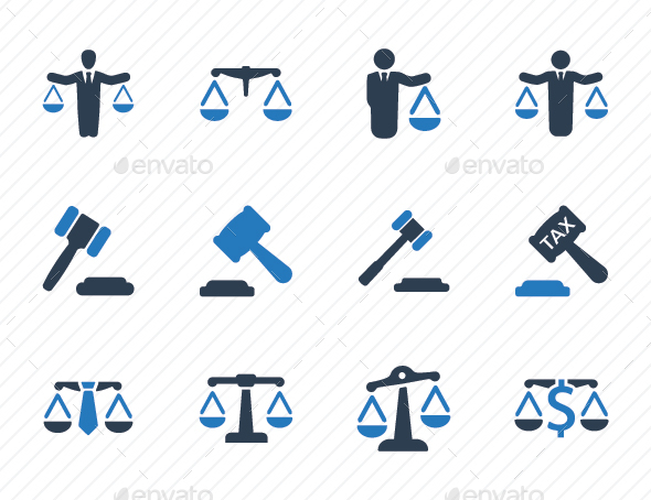 Business Law Icons - Blue Version - Business Icons