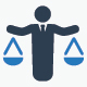 Business Law Icons - Blue Version