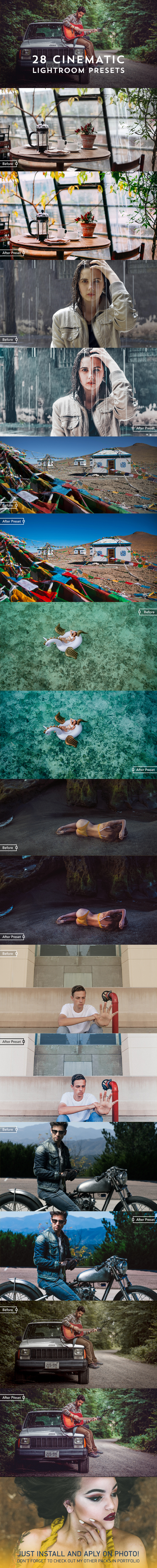 28 Cinematic Film Look Lightroom Presets - Cinematic Lightroom Presets
