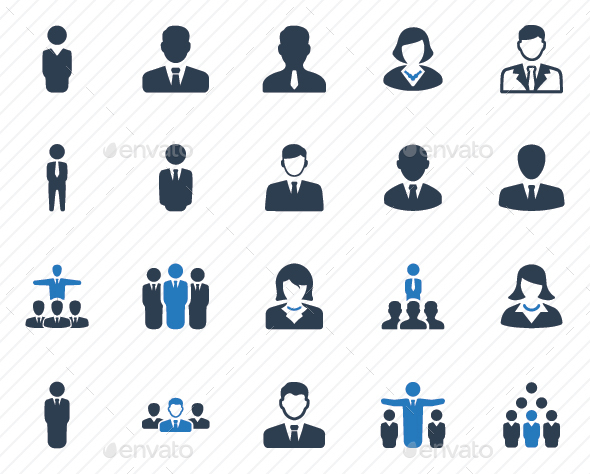 Business People Icons - Blue Version - Business Icons