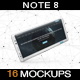 Smartphone Note 8 Mockup vol3 - GraphicRiver Item for Sale