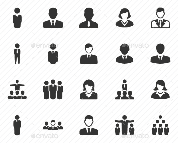 Business People Icons - Gray Version - Business Icons