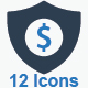 Business Security Icons - Blue Version