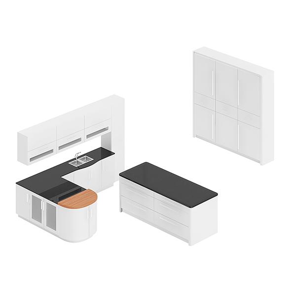 3DOcean Kitchen Furniture Set 11 20760347