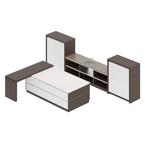 Kitchen Furniture Set 14 - 3DOcean Item for Sale