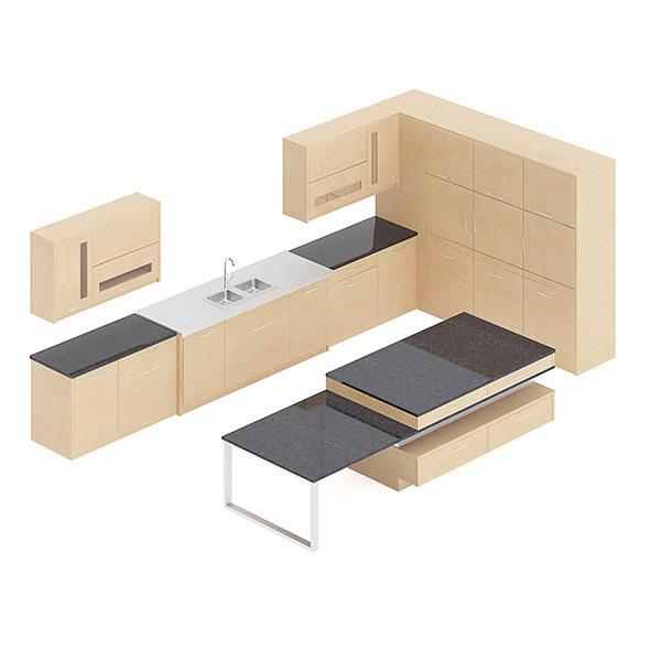 Kitchen Furniture Set 15 - 3DOcean Item for Sale