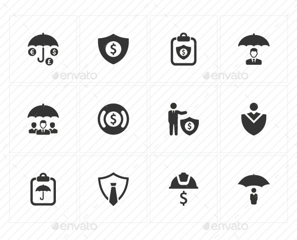 Business Security Icons - Gray Version - Business Icons