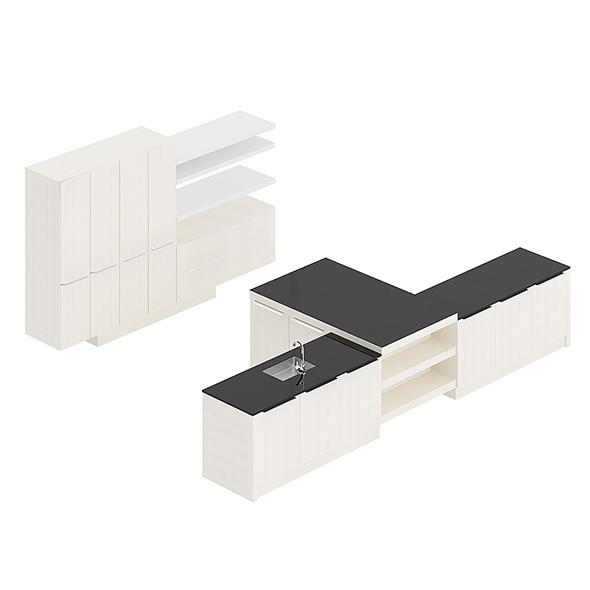 Kitchen Furniture Set 19 - 3DOcean Item for Sale