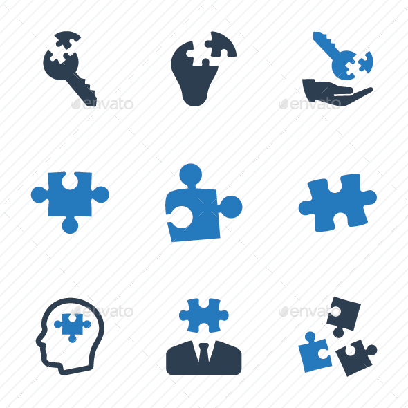 GraphicRiver Business Solution Icons Blue Version 20760471