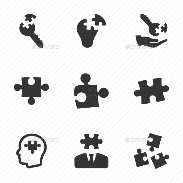 GraphicRiver Business Solution Icons Gray Version 20760476