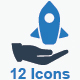 Business Startup Icons - Blue Version