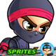 Ninja 2D Game Character Sprites - GraphicRiver Item for Sale