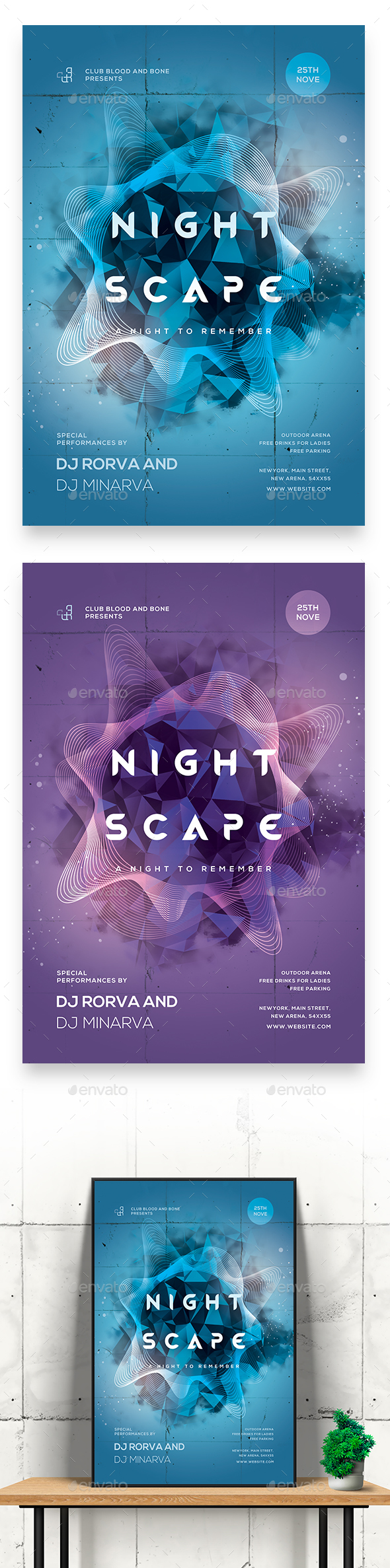 Night Escape Party Flyer/Poster - Clubs & Parties Events