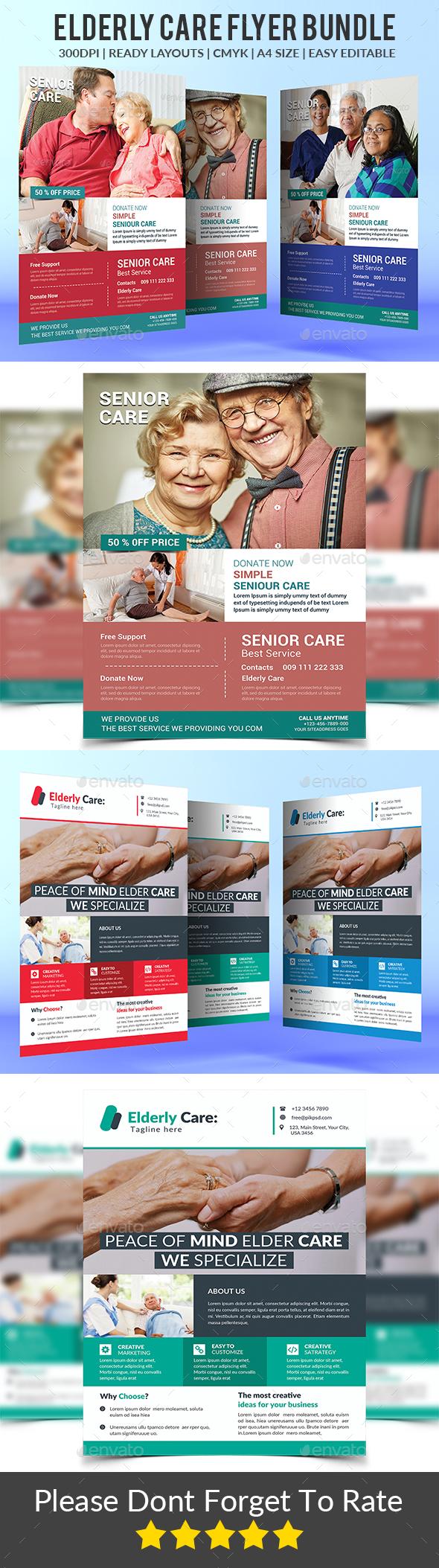 Elderly Care Flyers Bundle - Corporate Flyers