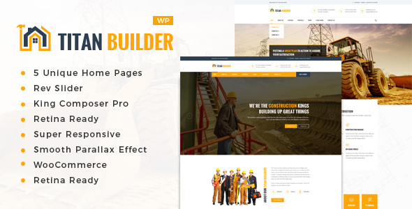 Titan Builders : Construction WordPress Theme