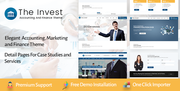 The Invest – Professional Services and Finance WordPress Theme Free Download
