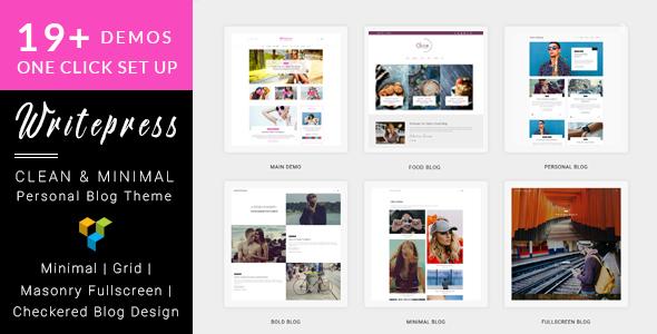 Image of Writepress Personal Blog and Magazine WordPress Theme