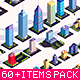Low Poly Buildings City Pack 2 - 3DOcean Item for Sale