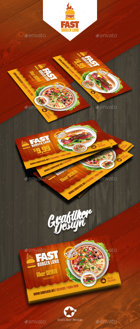 Restaurant business card templates by grafilker graphicriver restaurant business card templates corporate business cards flashek