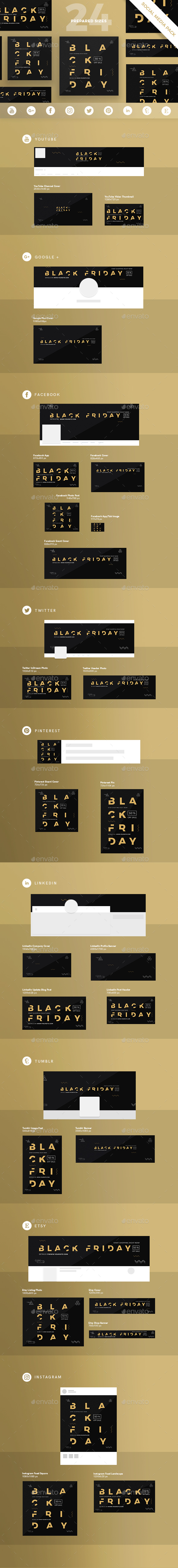 Black Friday Social Media Pack - Miscellaneous Social Media