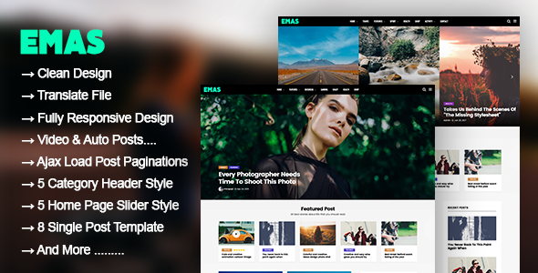 ThemeForest Emas WordPress Blog Magazine Theme 20692217