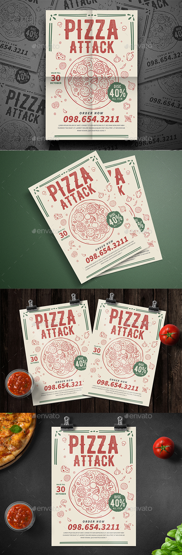 Pizza Party Flyer - Events Flyers