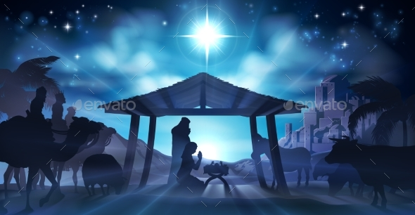 GraphicRiver Nativity Scene Christmas 20761468