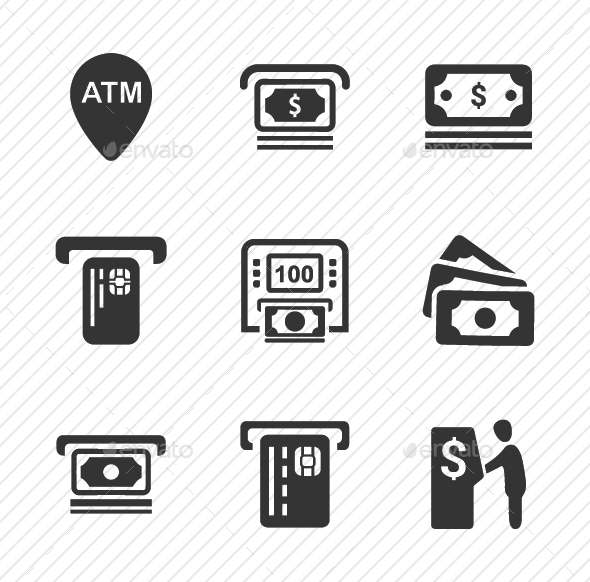 GraphicRiver Cash Out Icons Gray Version 20761486