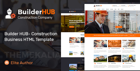 Builder HUB- Construction Business HTML Template - Business Corporate