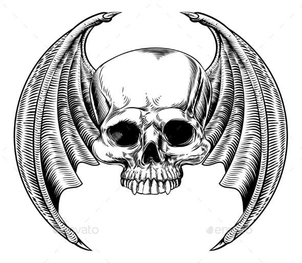 Evil Winged Skull - Miscellaneous Characters